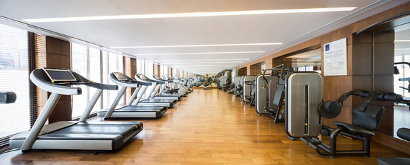 Modern gym interior with equipment.fitness center interior