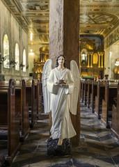 angel sculpture in the church of tagbilaran