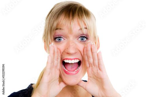 Frau stohnt laut