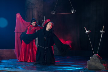 creative staging in the theater.