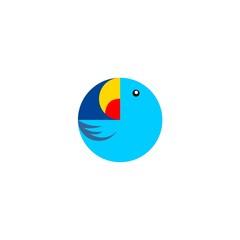 blue love bird too elips