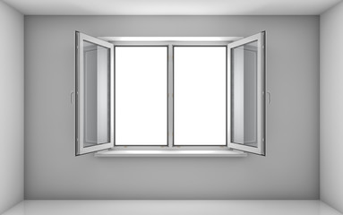 White room and open window