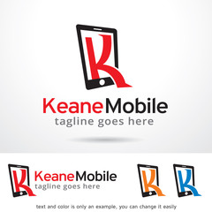 Letter K Mobile Logo Template Design Vector / Icon Design