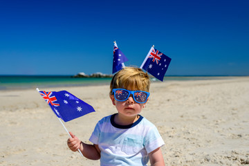 Cute kid on Australia day