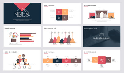 Infographics slide template 4