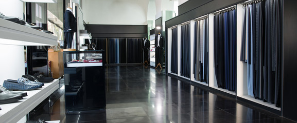 Showroom for wedding concept for groom, variation of suits