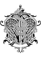 sword wings snake