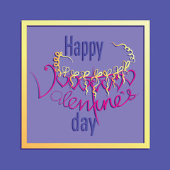 Frame for Valentine`s Day. Vector Image. Design congratulations, banners, cards, poster to Valentine`s Day.