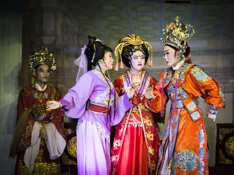Chinese opera performance during the Hungry Ghost Festival, Penang, Malaysia