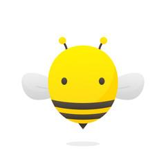 Bee cartoon vector isolated