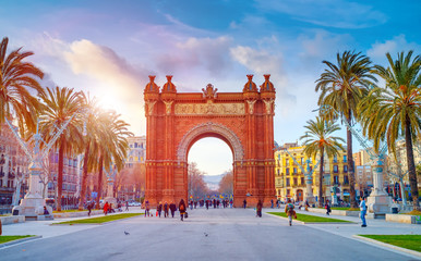 Photo sur Toile Barcelone BARCELONA,SPAIN/FEBRUARY 27,2012: Triumphal Arch