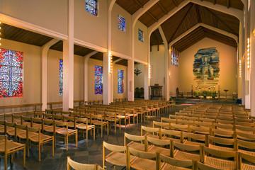 Kirche Skalholt Bischofsitz Island Innen