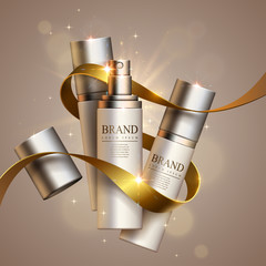 Cosmetics and decorative ribbon