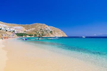 Beach on Mykonos, Greece