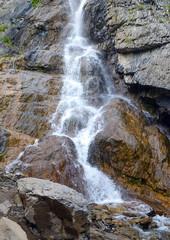 Beautiful, mountain waterfall.