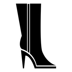 Women winter boots icon, simple style