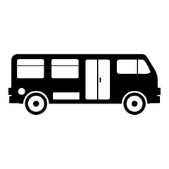Bus icon, simple style