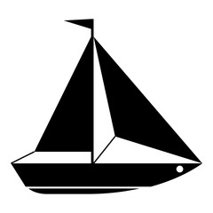 Boat icon, simple style