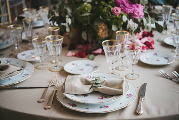 equipment for marriages, decoration table