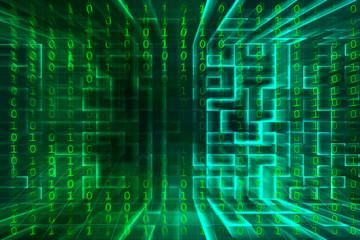 Hintergrund digital mit Zahlen