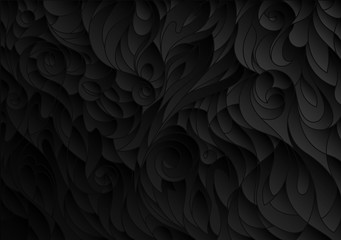 abstract black floral pattern