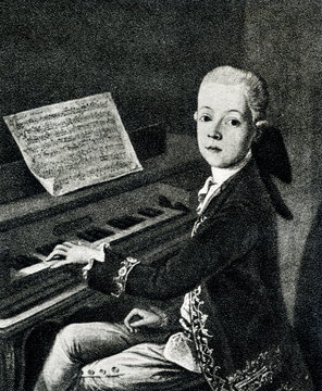 Mozart in Salzburg, 1766/67, by Franz Thaddaus Helbling
