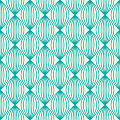 Vector ornamental continuous background made using undulate line