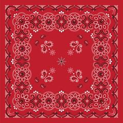 Red Bandana Print
