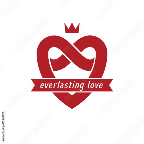 quoteverlasting love concept vector symbol created with