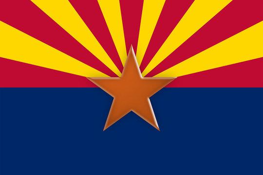 US State Background: 3d illustration of Arizona Flag
