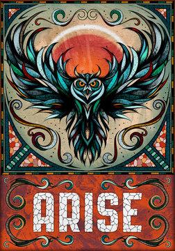 Owl motif, illustration