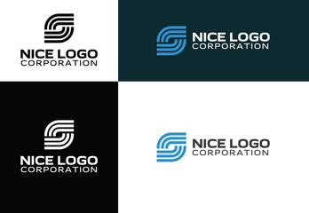 logo Internet service provider, smart network logotype