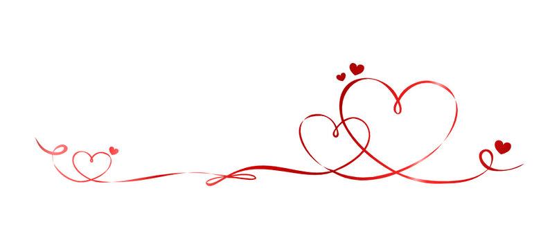 Schleifenband Herzen