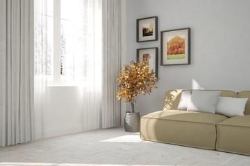 Modern interior designwith sofa