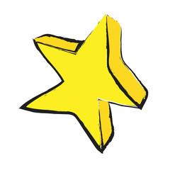 cartoon star, doodle icon
