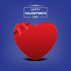 Happy Valentine's day poster design blue background theme