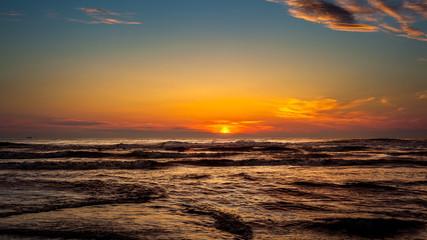 Sunset. Beautiful sunset Black sea. Gold sea sunset