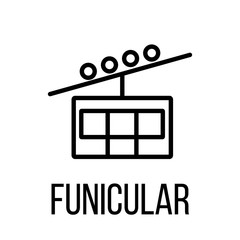 Funicular icon or logo in modern line style