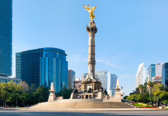 Spoed Fotobehang Mexico The Angel of Independence, a symbol of Mexico City