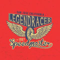 Legend Motorcycles Club Vintage Racers T-Shirt Design