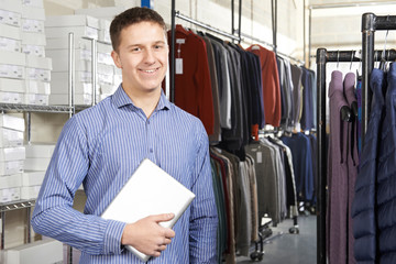 Businessman Running On Line Fashion Business With Digital Tablet