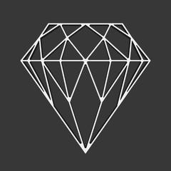 Diamond vector icon.