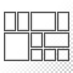 Picture photo frames set.