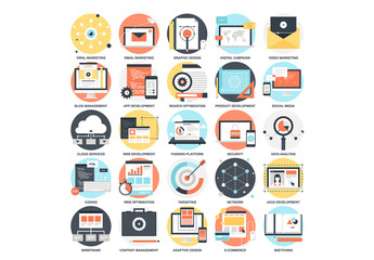 25 Detailed Circular Business Development Icons