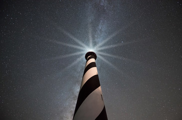 Cape Hatteras Lighthouse at night