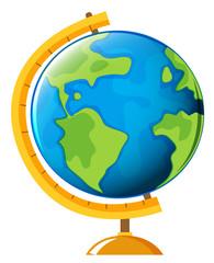 Globe on white background