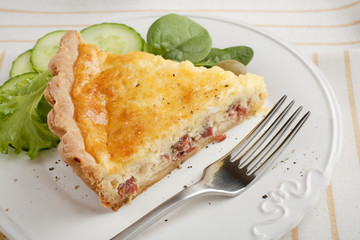 Slice of Bacon and Egg Pie