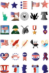 Patriotic Icons for Memorial Day, Election Day and much more