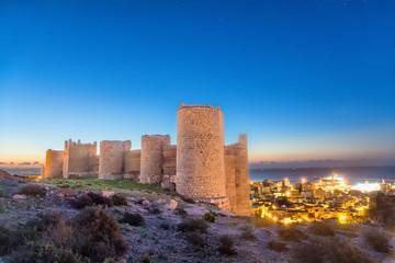 Medieval wall of Alcazaba on the hill, Almeria
