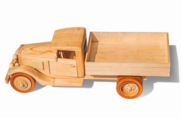 Wooden lorry model